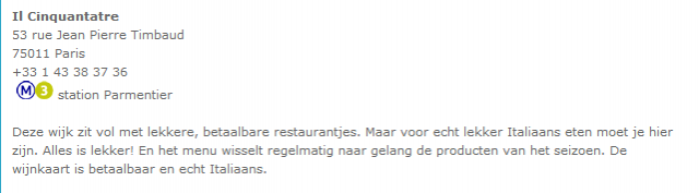 Restaurants inWijk …